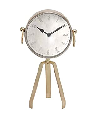 Tripod Roman Numeral Table Clock