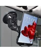 Amzer Suction Cup Mount for Windshield, Dash or Console for LG G Pro 2 F350 - Retail Packaging - Black