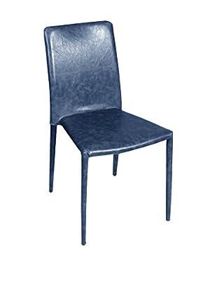 Glam Home Stuhl 2er Set Houston blau