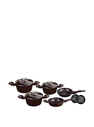 Blaumann Set Batería de cocina 10 Piezas Granit Line Marrón