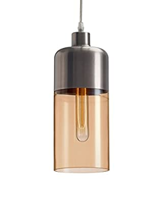 Zuo Vente Ceiling Lamp, Satin/Amber