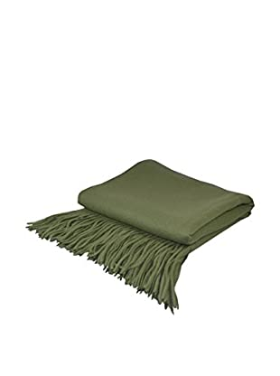 PÜR Cashmere Signature Blend Throw, Moss