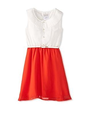 Blush by Us Angels Girl's Cap Sleeve Chiffon Dress