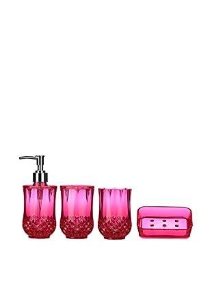 Premier Housewares Bad Accessoires 4 tlg. Set 1601511 pink