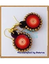 Krafty Waves Paper quilled Earrings - Shades of Red