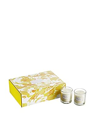 Isaac Mizrahi 6-Piece Hampton Lily Scented Votive Set, Yellow