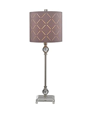 Artisitic Lighting Table Lamp, Brushed Steel, Clear