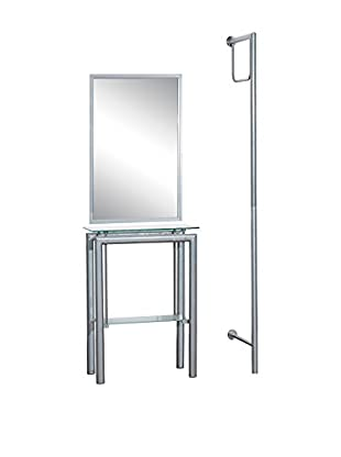 Premier Houseware  Toilettendiener 3 tlg. Set 2400954 silberfarben