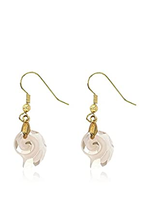 Art de France Pendientes Shell metal bañado en oro 24 ct