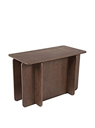 Control Brand House of Cards End Table, Walnut