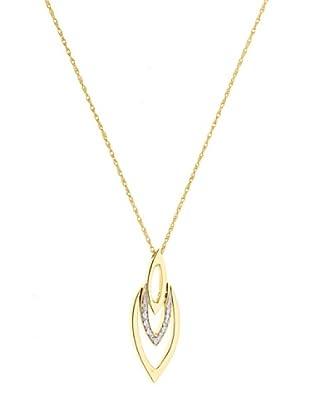 Design Diamond Collar Collier Or Jaune