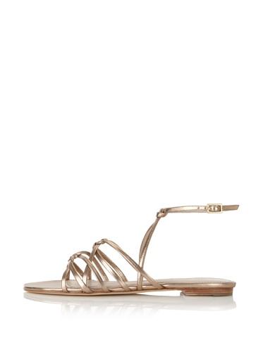 Delman Women's Skye Flat Sandal (Nude)