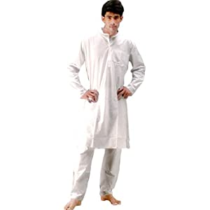 Pure White Kurta Pajama - Pure Cotton