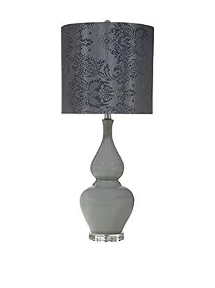 Bassett Mirror Co. Olney 1-Light Table Lamp, Grey