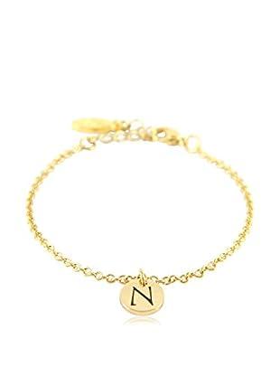 Ettika 18K Gold-Plated N Initial Chain Bracelet