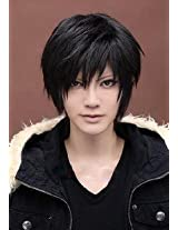 MapofBeauty Cosplay Costume Men's Short Straight Wig Black AD