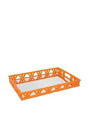 Three Hands Resin Tray, Orange