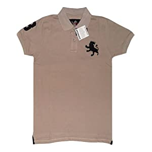 Xpress Polo Light Grey T-Shirt with Red lion logo
