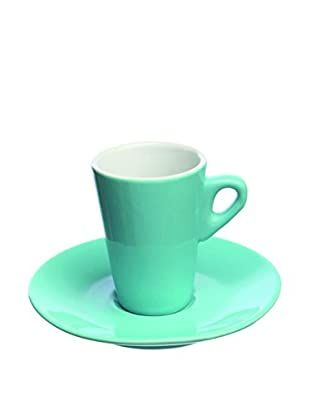 Tognana  Kaffeetasse mit Untertasse 6er Set Elegant türkisgrün