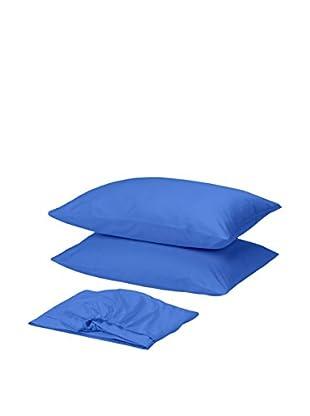 Homemania Betttuch und Kissenbezug blau 210 x 250 cm