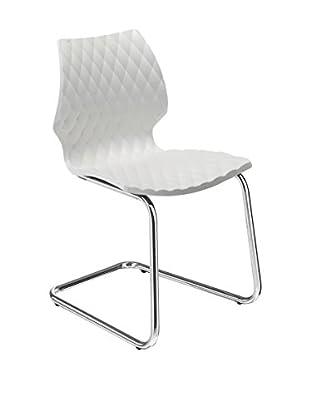 Metalmobil Stuhl 2er Set Uni-564 weiß/chrom