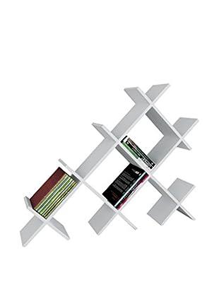 Dekorister Bücherregal Discuss weiß 22x118,1x94,5cm