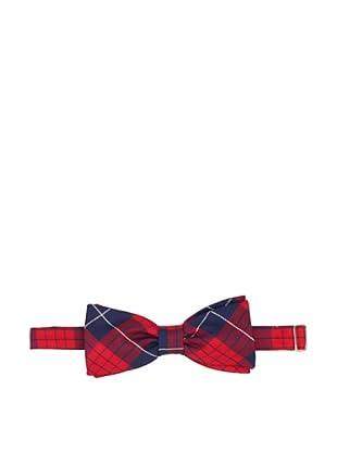 Desanto Men's Capri Bow Tie, Red/Navy