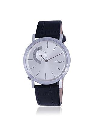 Johan Eric Men's JE1500-04-001 Randers Black/Silver Leather Watch
