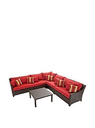 RST Brands Deco 6-Piece Corner Sectional Set, Red