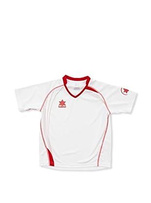 Luanvi Camiseta Manga Corta Master (Blanco / Rojo)