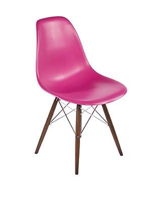 Control Brand The Mid-Century Eiffel Dining Chair, Pink/Walnut