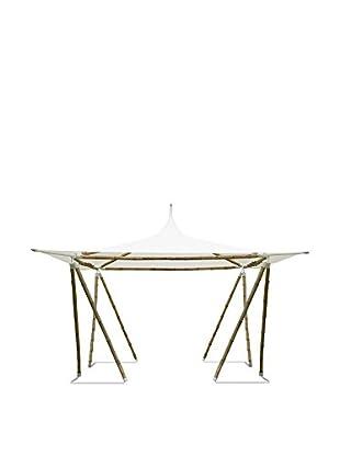 ZEW, Inc. Bamboo Gazebo Canopy, White