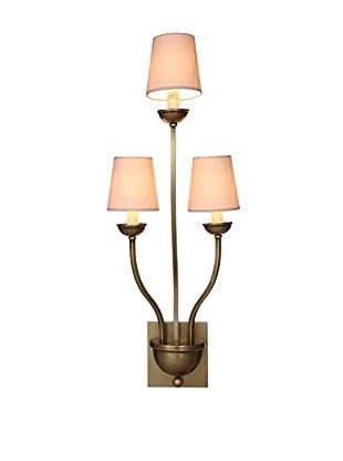 Urban Lights Vineland 3-Light Wall Lamp, Burnished Brass