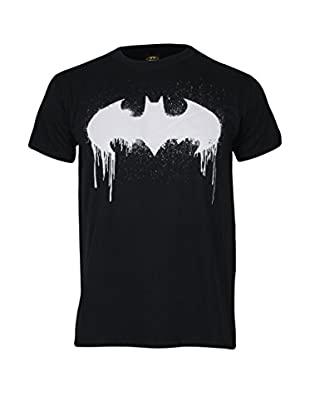 DC Comics T-Shirt Manica Corta Batman Dripping Graffiti Logo
