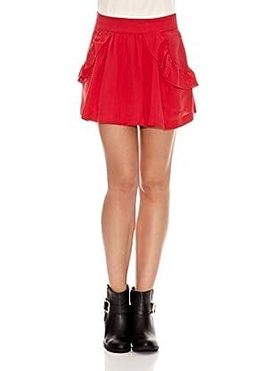 Pepe Jeans London Falda Margaret (Rojo)