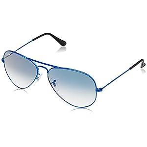 Ray-Ban Aviator Sunglasses (Matte Blue) (RB3025|088/3F58)