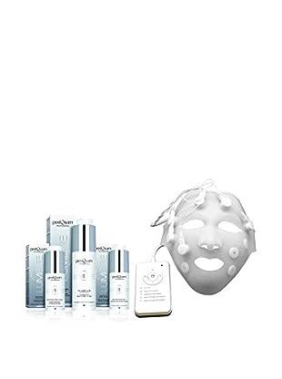 PostQuam Gesichtspflege 4er Set Tagescreme 50 ml, 30 ml Serum, Augencreme 30 ml, Vibrations Mask, Preis/100 ml: 283.9 EUR