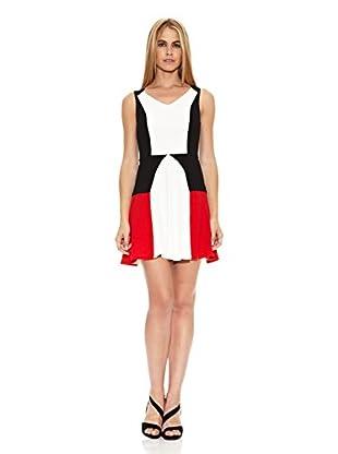 Barbarella Vestido Hortense (Blanco / Negro / Rojo)