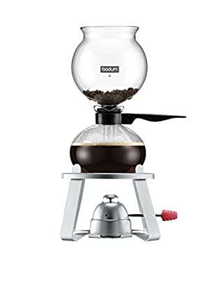 Bodum Pebo 8-Cup Vacuum Coffee Maker with Burner Stand, Black
