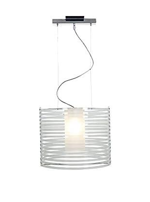 Access Lighting Enzo 1-Light Pendant, Chrome/Clear