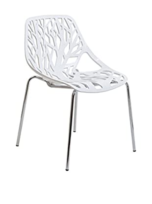 Modway Stencil Dining Side Chair, White