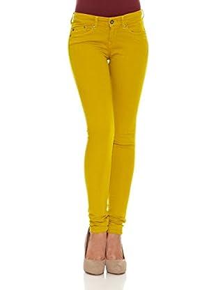 Pepe Jeans London Pantalón Pixie (Amarillo)