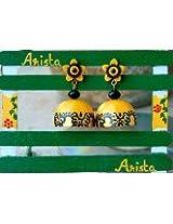 Arista Hand made paper jhumka earrings