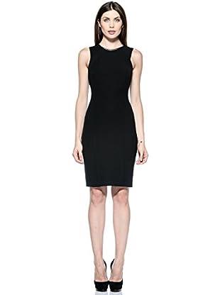 Annarita N Vestido Tubo Bicolore (Negro)