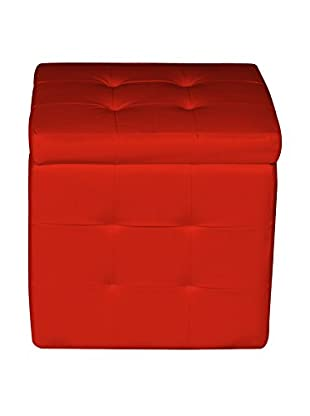 Evergreen Home Hocker mit Stauraum rot