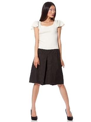 Custo Vestido Vertex (Crudo / Negro)