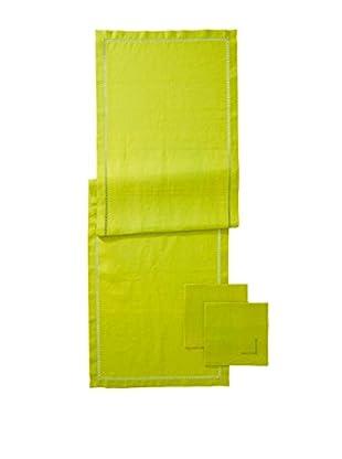Hermès 3-Piece Lime Linen Runner Napkin Set