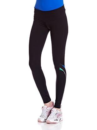 Naffta Pantalón Ajustado Running (Negro / Azul)