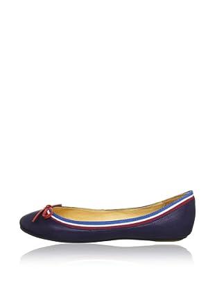 Buffalo London 207-3562-2 VAL DI FASSA 141457 - Bailarinas de cuero  mujer (Azul)