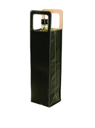 Picnic Time Firenze Single Bottle Wine Carrier (Black)